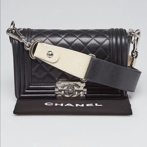 Chanel Quilted Lambskin Leather Small Boy Bag